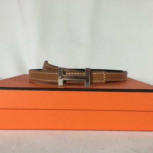 Hermes thin reversible belt