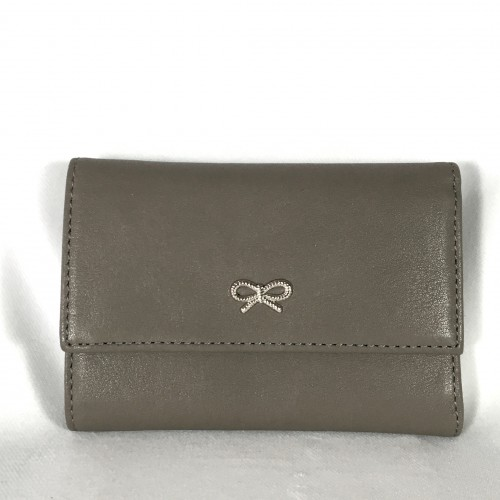Anya Hindmarch taupe purse front