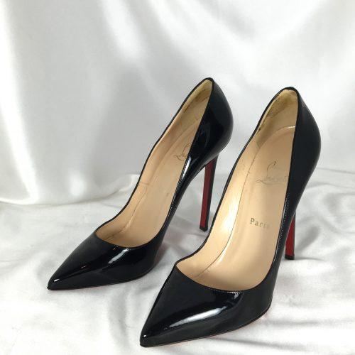 Louboutin patent stilettos side
