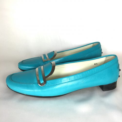 Tods turquoise loafers