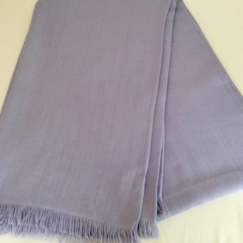 Hermès cashmere silk scarf pale :lavender blue
