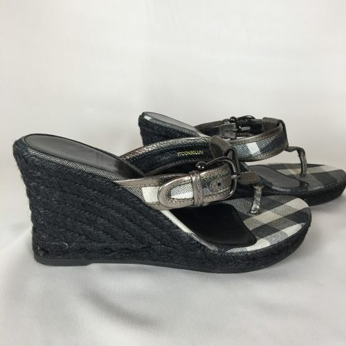 Burberry Espadrille Wedge Sandals 1