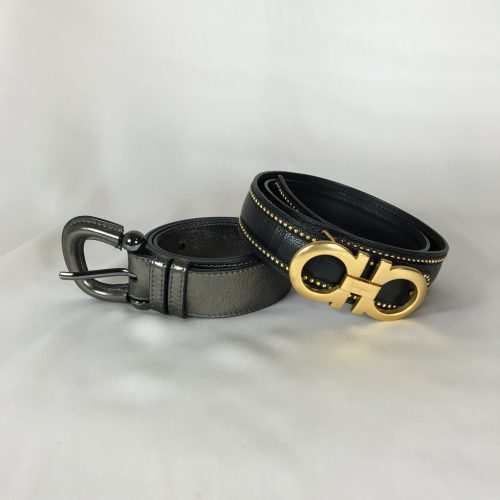 Burberry and Salvatore Ferragamo belt