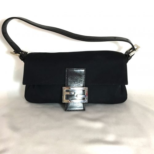 Fendi Baguette black canvas 1