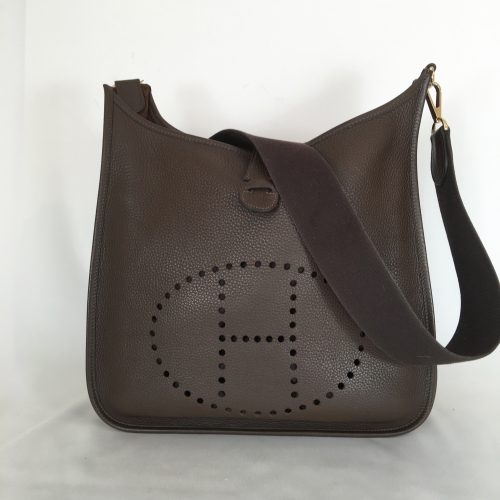 Hermès Evelyne shoulderbag Brown 1