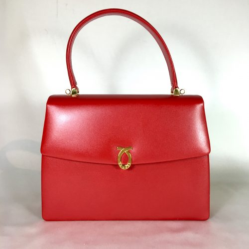 Launer handbag in red leather 1