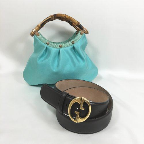 Gucci belt o bag bamboo handles