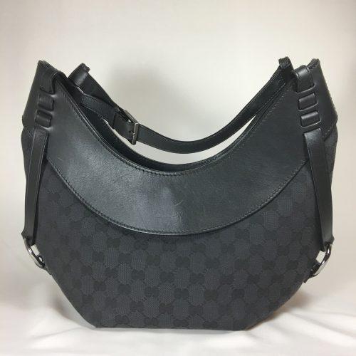 Gucci GG logo canvas shoulderbag 1
