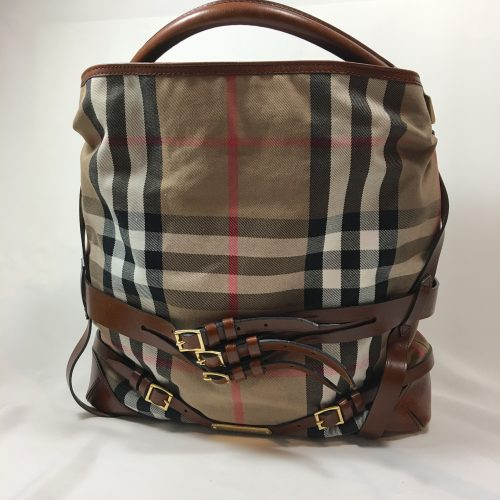 Burberry Bridle House check Medium Gosford hobo bag