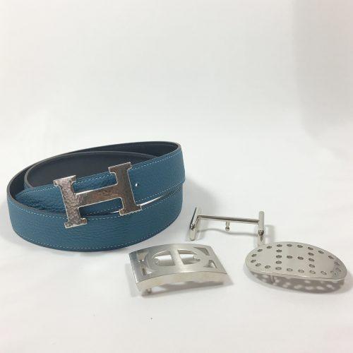 Hermès reversibel belt silver buckle 1