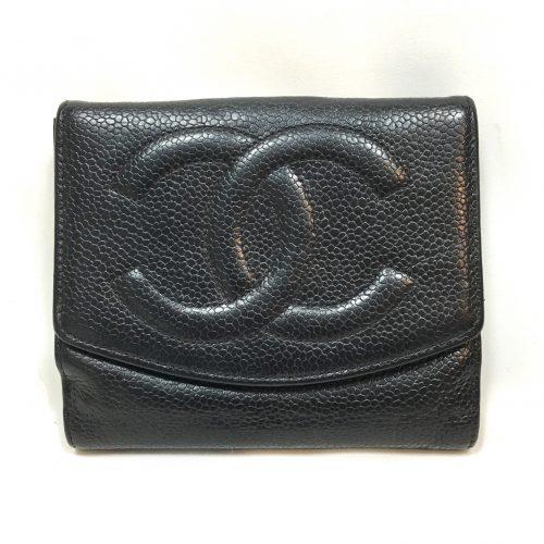 Chanel small wallet black caviar