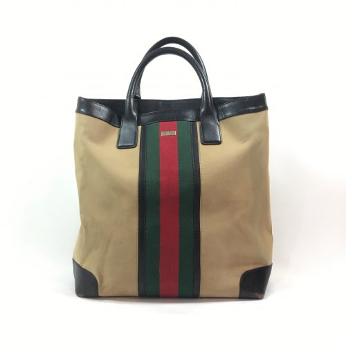 Gucci vitnage camel canvas totee