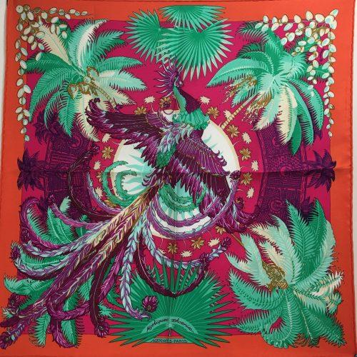 Hermes silk scarf 40x 40 Mythique Phoenix