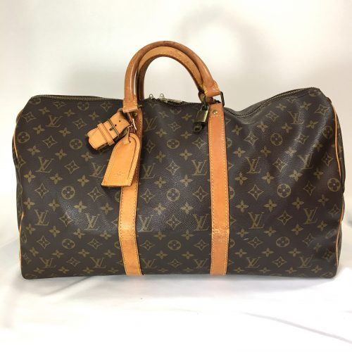 Louis vuitton Keepall 50 monogram canvas address tag