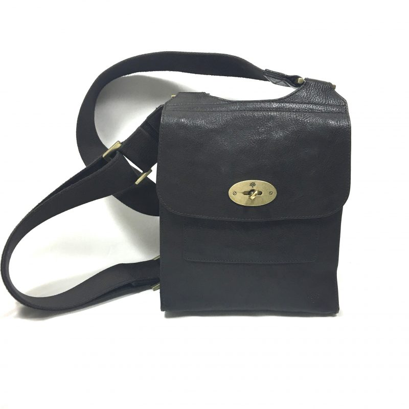 Mulberry Messenger brown leather bag