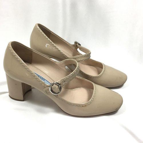 Prada Mary Jane nude shoes