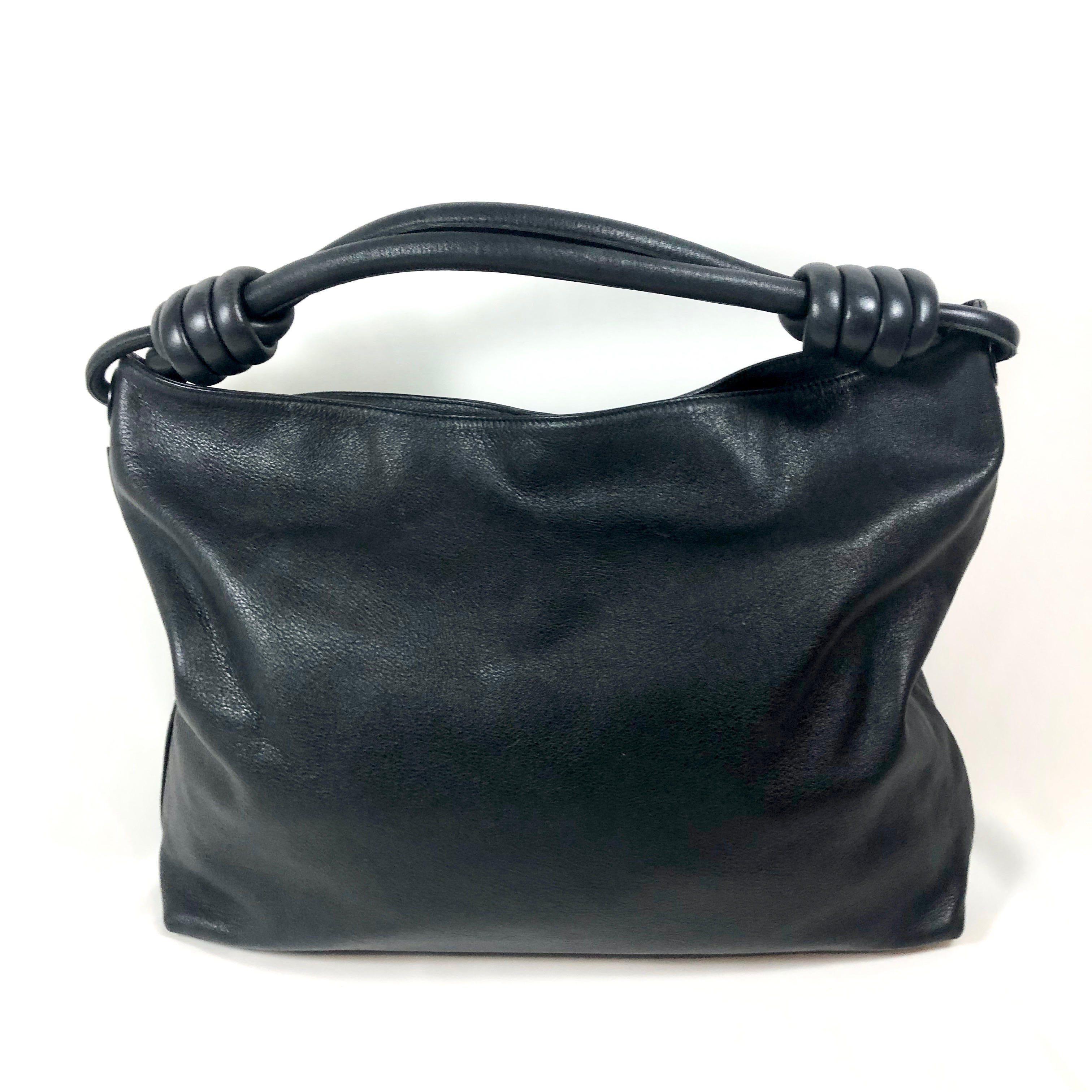 f663c38234f1 LOEWE HOBO KNOT LARGE BAG IN BLACK CALF LEATHER - Still in fashion