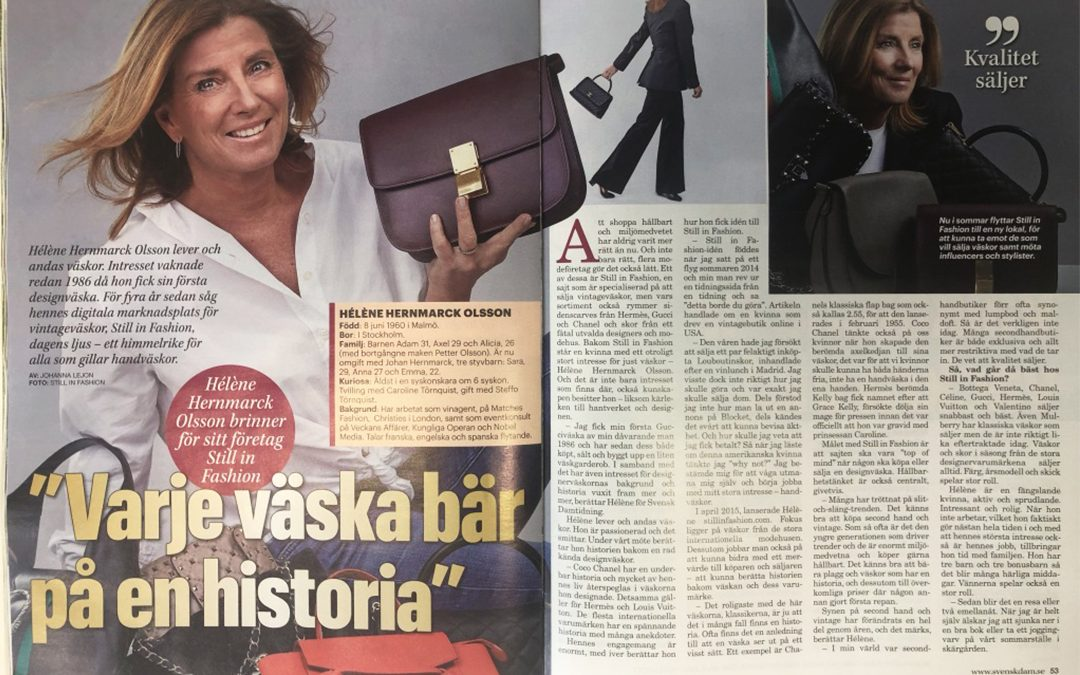 Interview in Svensk Dam