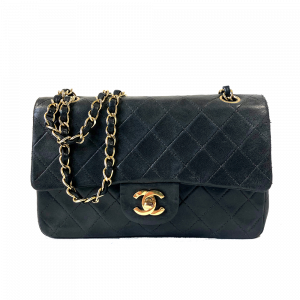 CHANEL QUILTED DOUBLE FLAP SHOULDER BAG