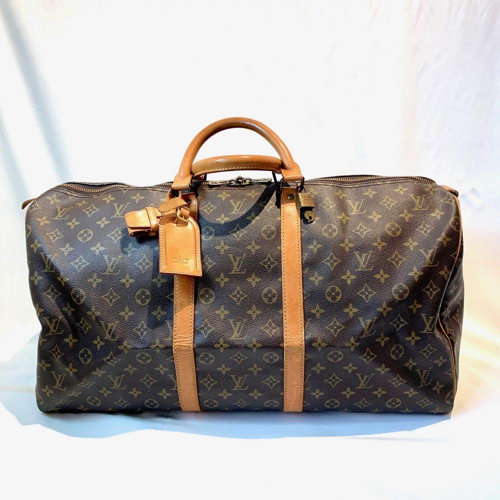 Louis Vuitton designer bag Keeepall 55 travel bag