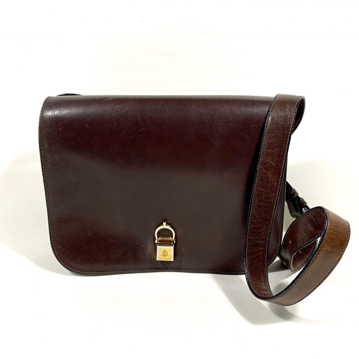 Celine brown designer Box bag