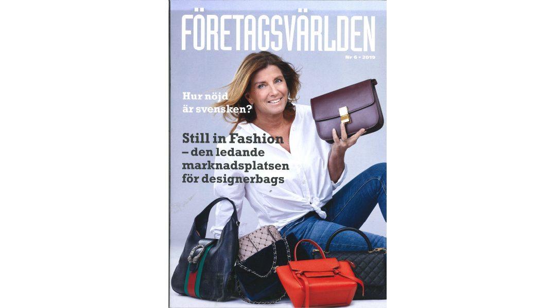 Företagsvärlden states;  Still in Fashion is a leading Market Place for Designer Bags