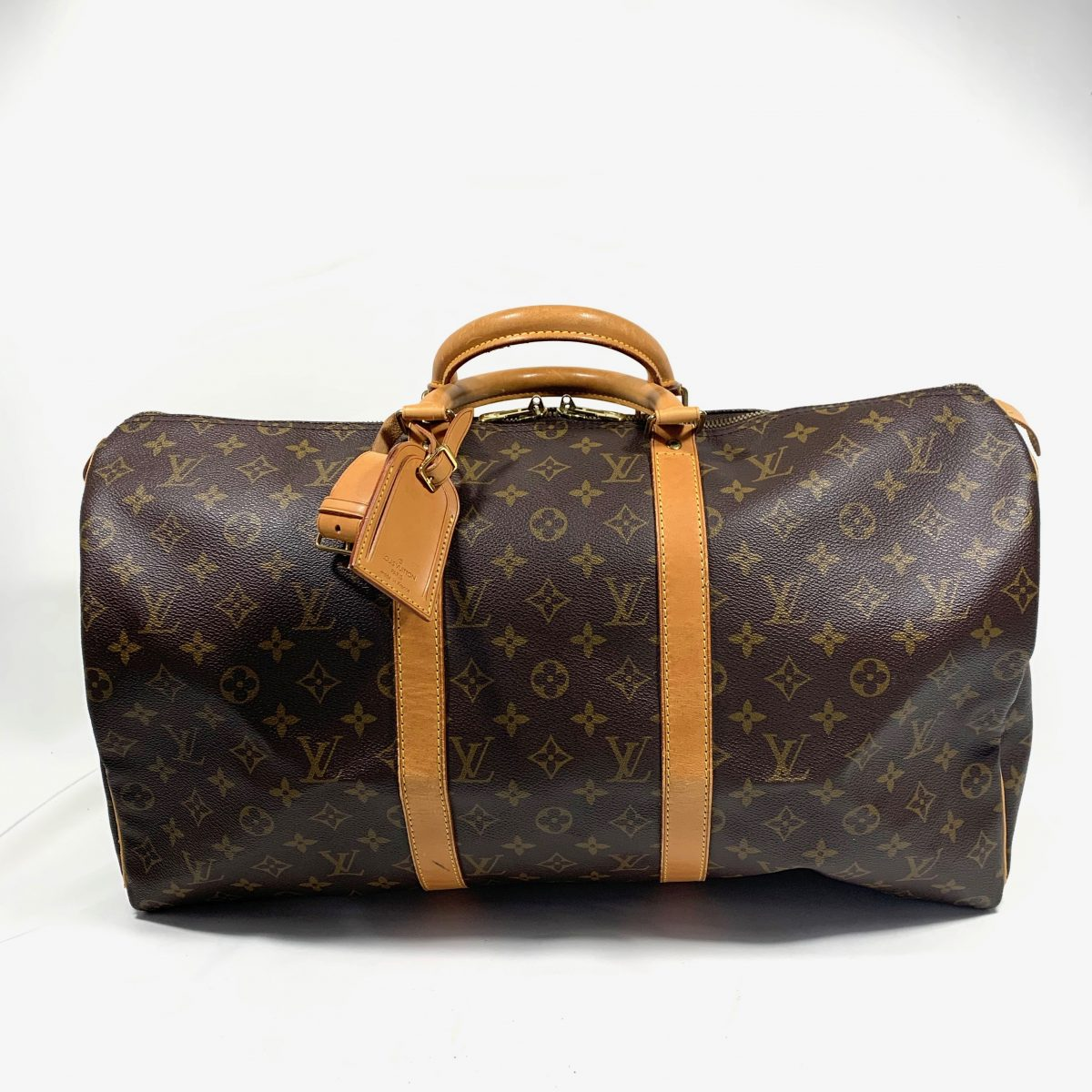 Louis Vuitton Keepall 50 designer travel bag