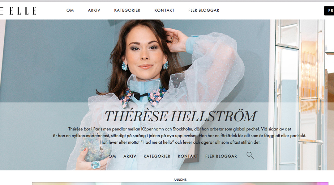 Therese Hellström encourage us to support our locals