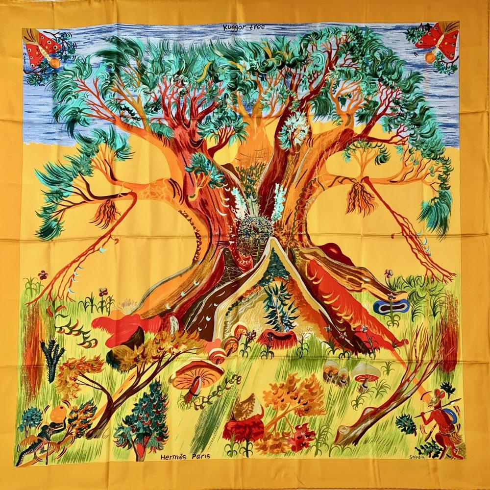Hermès designer scarf