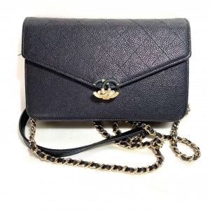 CHANEL WOC (WALLET ON CHAIN)  CAVIAR LEATHER