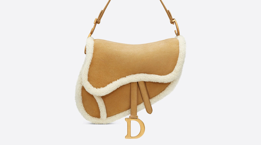 Dior's Saddle Bag goes cozy this winter