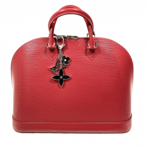 LOUIS VUITTON ALMA GM BAG IN RED EPI LEATHER