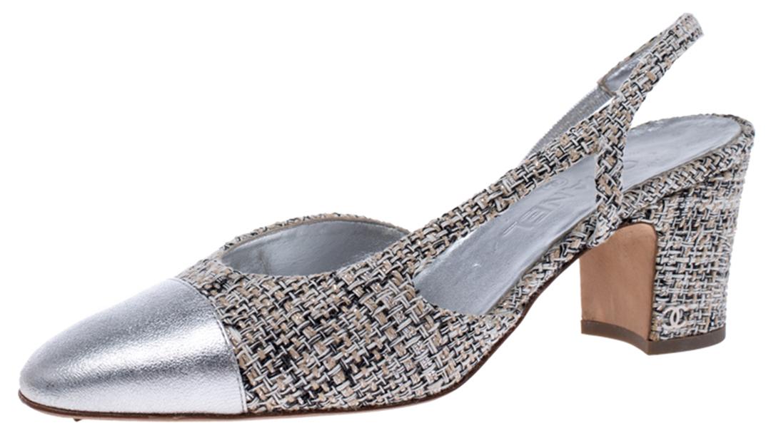 Chanel Cap toe slingback