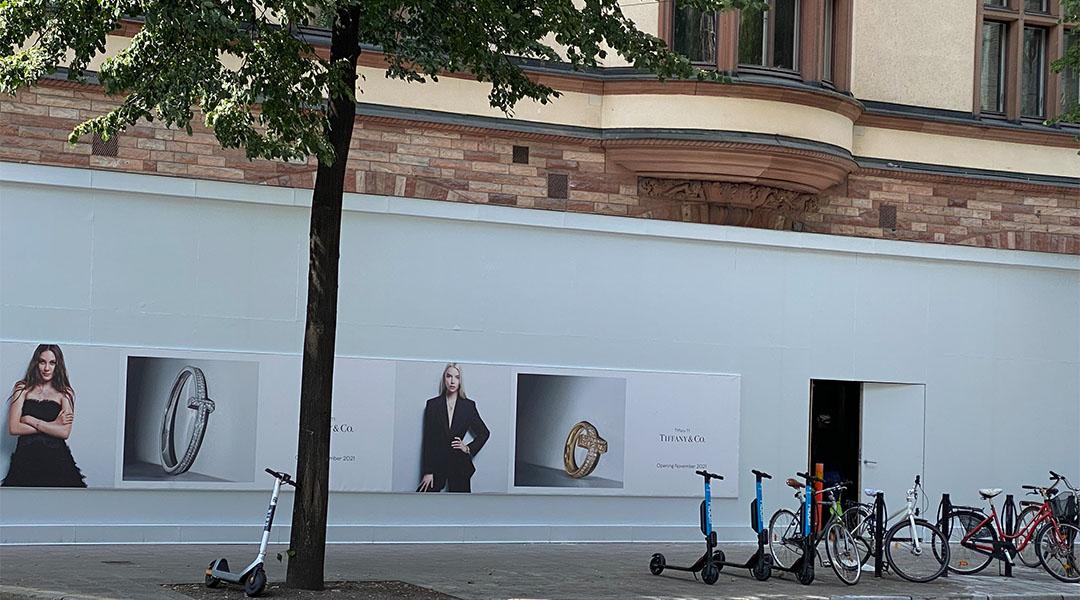 Tiffany shop opening up Stockholm